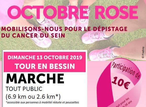 Octobre rose : Marche pour sensibiliser au cancer du sein