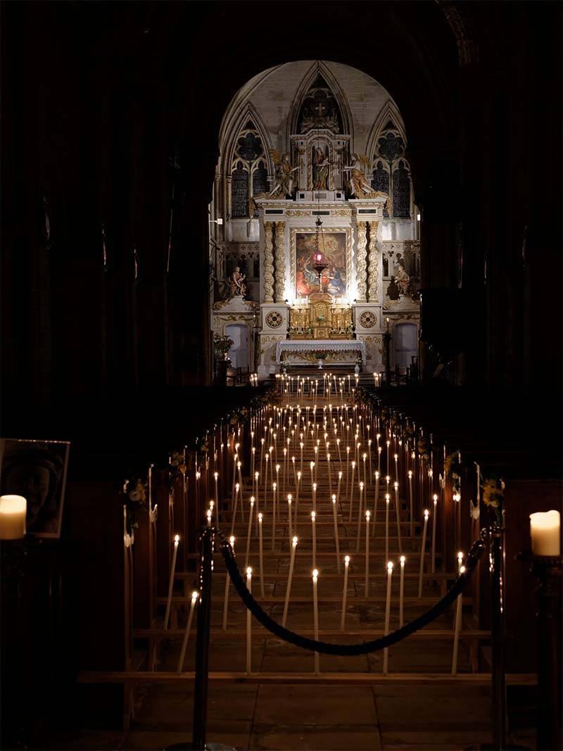 Illumination de l'église de Bernières