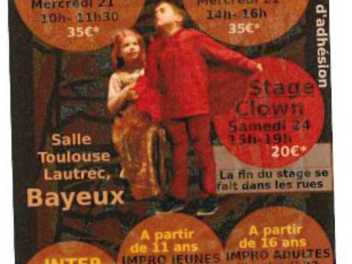 Stages de théâtre Août 2019
