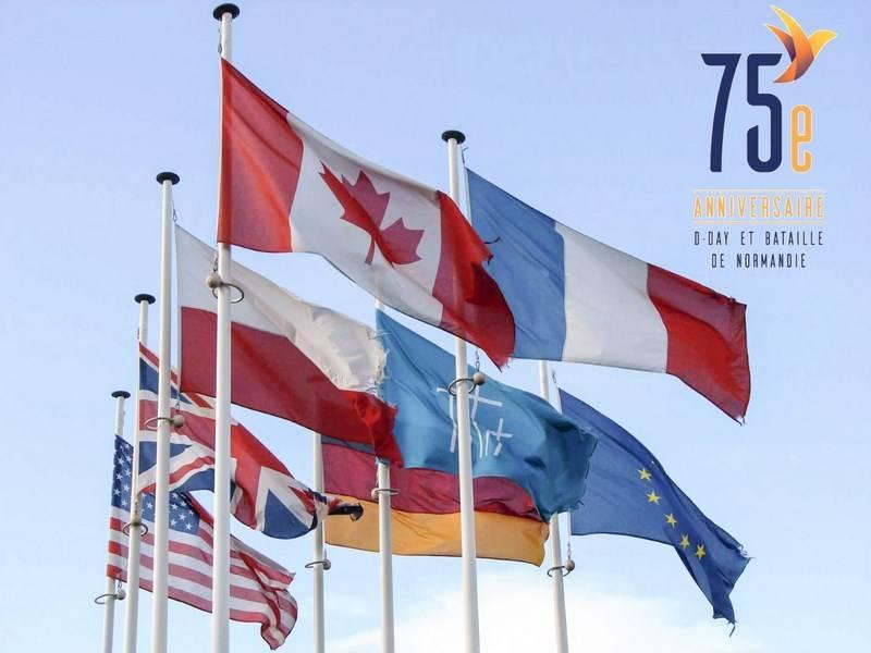 Cérémonie du 75ème Anniversaire du Débarquement : Stèle à Cartigny-l'Epinay